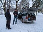 Zimowa turystyka rowerowa na Roztoczu