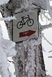 Szlak rowerowy zimą - Roztocze Szczebrzeszyńskie