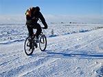 Idealne warunki do jazdy rowerem zimą