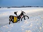 Między Adamowem i Bliżowem 13 lutego 2017. Nie pamiętam tak dobrej zimy do jazdy rowerem jak obecna...