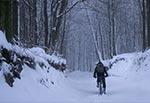Droga do kapliczki św. Romana od strony Feliksówki - dnia 25 stycznia 2021. Warunki wreszcie nastały krzepkie, zima stanęła na wysokości zadania, złego słowa na jej temat nie można powiedzieć ;)