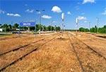 Spalona chemią trawa na stacji Bełżec