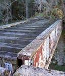 Most kolejowy należący do dawnej tajnej rampy kolejowej, służącej do planowanego ataku Sovietów na Zachód