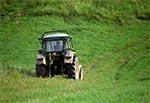 Rzadko spotykany na Roztoczu traktor z klatką bezpieczeństwa