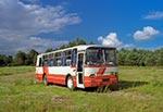 Autosan zaparkowany w pięknych okolicznościach przyrody na wylocie z Huty Różanieckiej w kierunku wschodnim