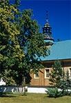Modrzewiowy kościół parafialny pw. św. Stanisława z XVIII w. w Górecku Kościelnym