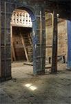 Wnętrze cerkwi greckokatolickiej w Żmijowiskach pw. Zaśnięcia Matki Bożej , z 1786r.