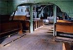 Wnętrze cerkwi greckokatolickiej w Woli Wielkiej z 1755r.