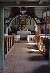 Wnętrze cerkwi w Woli Wielkiej