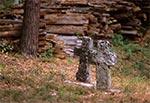 Materiał z ruin cerkwi w Teniatyskach