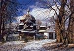 Cerkiew w Hrebennem w czasach kiedy jeszcze na dachu była blacha
