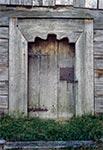 Drzwi cerkwi Zaśniecia Najświętszej Maryi Panny w Rudce - stan sprzed renowacji