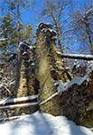 """Ruiny papierni w rezerwacie """"Czartowe Pole"""""""