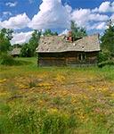 Stary dom w miejscowości Kunki