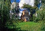 Pozostałości dzwonnicy po dawnym kościele Św. Krzyża