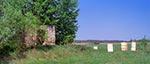 Ruiny kapliczki przy granicy za Radrużem