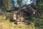 Ruina cerkwii w Teniatyskach - obecnie obiekt nie istnieje