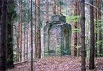 Kapliczka z czasów najazdów tatarskich między Łówczą a Nowym Brusnem