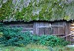 Omszała stodoła we wsi Szur