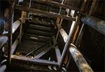 Wnętrze wieży ciśnień na stacji Józefów Roztoczański