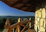Widok na Krasnobród z balkonu baszty