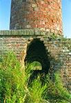 Komin cegielni pod Niewirkowem , z którego strzelał niemiecki snajper podczas II WŚ