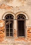 Fragment synagogi w Wielkich Oczach (przed renowacją)