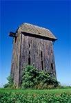 Zabytkowy wiatrak nna wierzchowinie nad wsią Gródki - od dawna już go tam nie ma niestety