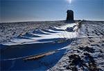 Zabytkowy wiatrak na Roztoczu Zachodnim - Gródki. Obiekt niestety został stamtąd zabrany