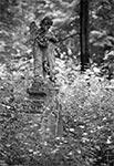 Skradziona rzeźba anioła - cmentarz Brusno Stare