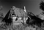 Ruiny roztoczańskiej chałupy