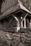 Fragment dzwonnicy w Woli Wielkiej