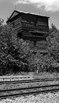 Wieża ciśnień na leśnej stacji Józefów Roztoczański. Miejsce, gdzie mimo upływu lat wciąż trwa ten dawny klimat  sielskiego zaścianka.