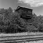 Wieża ciśnień na leśnej stacji Józefów Roztoczański (wielkość oryginalnego pliku - 70 mln.pix).