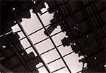Dach stodoły w Chmielach