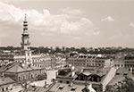 Widok z dzwonnicy Katedry Zamojskiej - wówczas kolegiaty