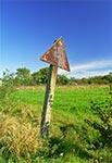 Prawdopodobnie najstarszy znak drogowy w okolicach Roztocza - Radruż