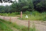 Granica za wsią Prusie