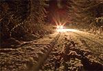 Droga przez Górę Brusno w szacie zimowej