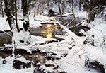 Potok Sopot koło Hamerni zimą