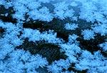 Lód na potoku Jeleń podczas bardzo silnych mrozów