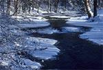 Rzeka Tanew w Rebizantach przy minus 28 st. C