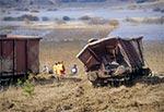Akcja wyciągania wagonów z doliny